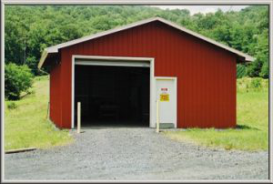 pesticide storage building