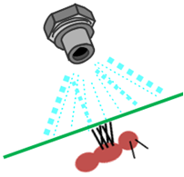 depicting behavioral resistance where insect avoids insecticide